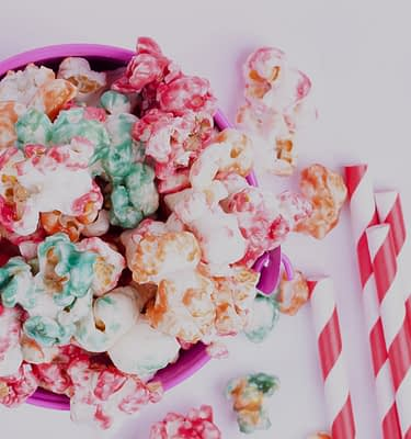 Candied Flavored Popcorn